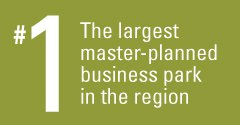 The largest master-planned business park in the region